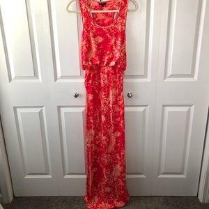 [Monteau] tie-dye maxi dress